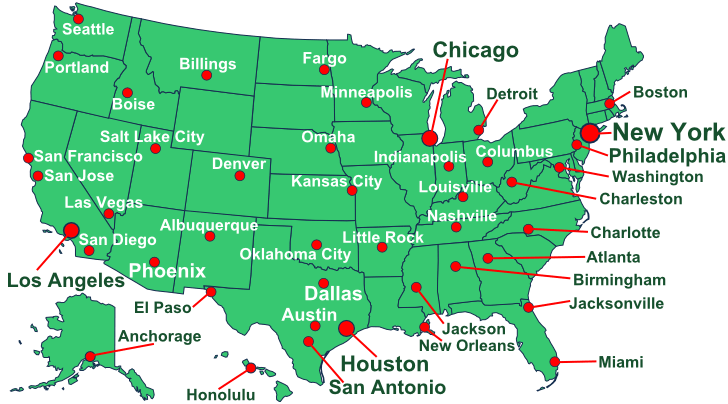 USA Weather map